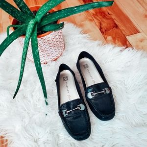 Anne Klein leather loafers